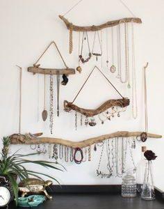 Driftwood Jewelry Organizer - Auf Bestellung Schmuckaufhänger - Wählen Sie das Driftwood - Boho Decor Small Space Storage Schmuckdisplay