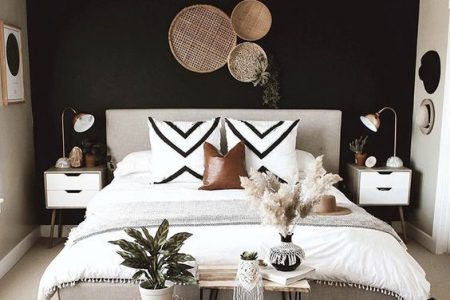 Black Bedroom Wall Interior - Mai 2020 Pinterest: Top 15 für Inspiration und Ideen