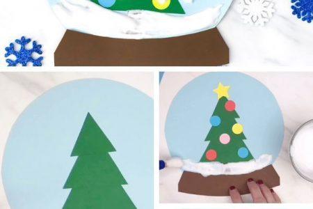 Ein Winter unter dem Motto Puffy Paint Snowglobe Craft für Kinder