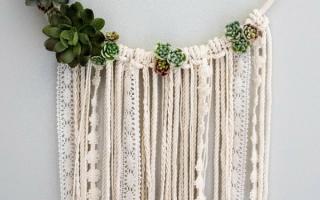 DIY Blumenwandbehang Traumfänger