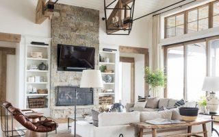 SM Ranch House: Das Wohnzimmer - Wir haben Vintage-Accessoires und Textilien verwendet. Wir ...