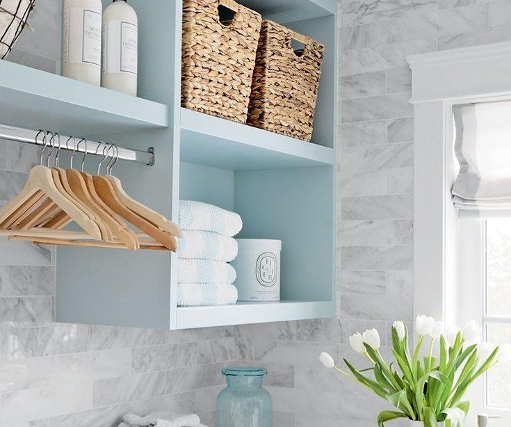 Jillian Harris 'helle und fröhliche Waschküche   Stil zu Hause
