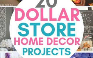 40 Dollar Store Home Décor Projekte