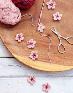 Kostenlose Häkel Kirschblüten Muster