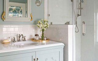 Badezimmer im Vintage-Stil