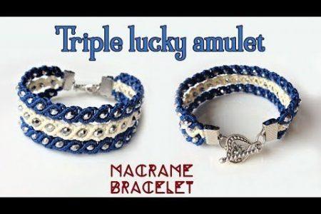 Makramee-Armband-Tutorial: Das dreifache glückliche Amulett - Einfaches, aber schönes Makramee-Ideenhandwerk