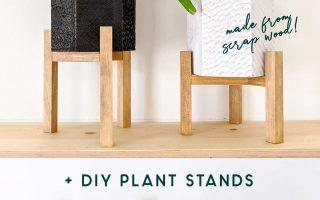 DIY geschnitzten Sechseck Pflanzer mit Pflanzenständer