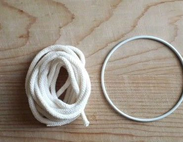 Macramè Spiralknotenkranz So starten Sie das Tutorial (iniziare la ghirlanda a nodo spirale macramè)