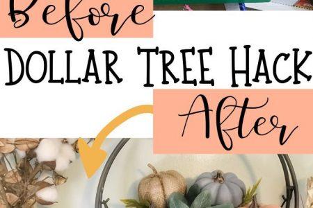 Günstige Herbst Dekor DIY Bauernhaus Kürbisse - Dollar Tree Hack - DIY mit meinem Mann