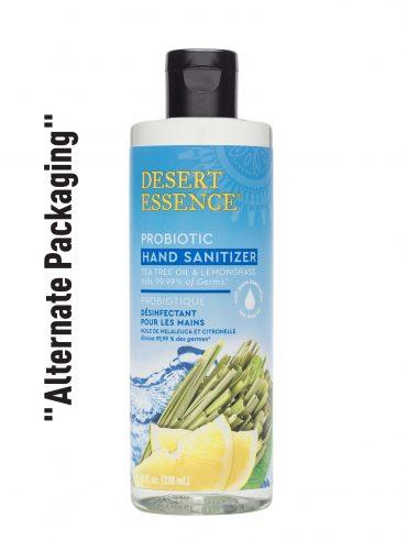 Desert Essence Probiotic Händedesinfektionsmittel - Zitronengras, 8 fl oz   Vegan   Gluten-frei