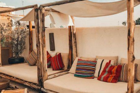 Marokkanisch inspirierte Terrasse