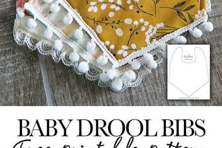 Baby Drool Lätzchen mit kostenlosem Muster