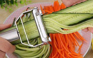 acessórios de cozinha cozinhar ferramentas multifunções em aço inoxidável julienne descascador de legumes descascador ralador de aplainamento duplo de 2020 por US $ 6.49