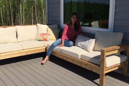 Wie erstelle ich ein 2x4 Outdoor Sectional Tutorial - YouTube Diy Home Decor, Diy Craf ...