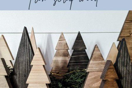 DIY Holz Weihnachtsbäume