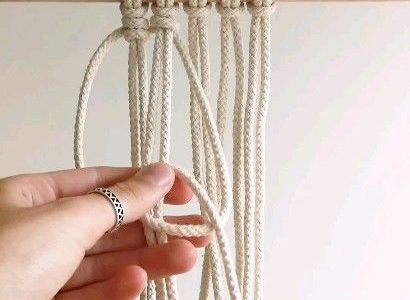 Makramee Vertical Clove Hitch Knot DIY Tutorial von TamarThings