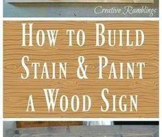 Wie man ein Holzschild baut und malt - Creative Ramblings