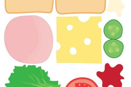 DIY Play Food Sandwich zum ausdrucken - JA! wir haben das gemacht