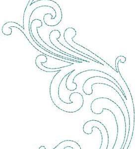 Dekoratives Wirbel-Design # 4 - Bean st. (3,7 x 5,8 Zoll)