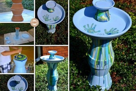 Wunderbare DIY Easy Birdbath Diy Wohnkultur, Diy Handwerk, Diy Kleidung, Diy Furnitu ...
