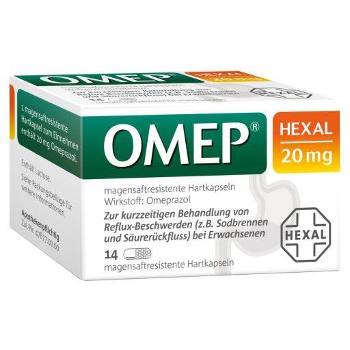 OMEP HEXAL 20 mg magensaftresistente Hartkapseln 14 St - Mein Körper | PZN 10070208