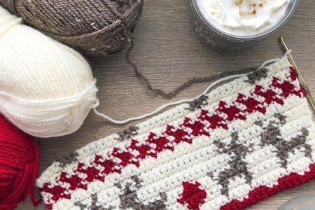 Muster: Häkeln Sie kariertes Stirnband - Evelyn und Peter Crochet