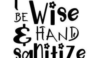 Seien Sie freundlich Hand Desinfizieren Sie nur Design