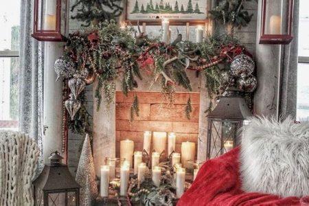 30 gemütliche und wunderbare rustikale Bauernhaus Weihnachten Dekorationsideen