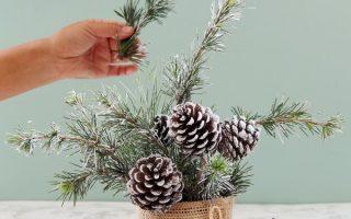 Snowy Tree Winter & Weihnachten DIY Tischdekoration {in 20 Minuten!}