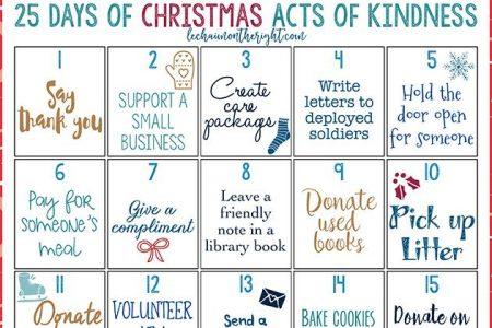 25 Tage Weihnachten Akt der Güte: Kostenlos zum Ausdrucken
