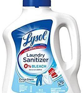 Lysol Wäsche-Desinfektionsmittel-Additiv, Arbeitsiges Leinen, 90 Unzen, bakterienverursachender Wäschegeruch-Eliminator, 0% Bleich-Wäsche-Desinfektionsmittel, mehrfarbig - Sınırsız Bilim