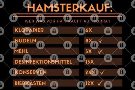 Hamsterkauf: Wer war vor Hut, kauft auf Vorrat - Kaufzettel Klopapier, Nudeln, Mehl, Desinfektionsmittel, Bier Kupa