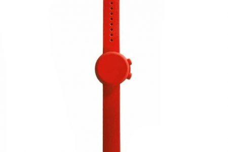 Lmell Tragbarer Armband-Hand-Silikonspender, tragbarer nachfüllbarer flüssiger Gelspender für Schule, Reisen, Arbeit, Camping im Freien -Red