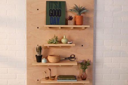 Dieses DIY Pegboard Storage Display ist für Ihr Home Office