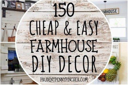 150 billige und einfache DIY Bauernhaus Dekor Ideen