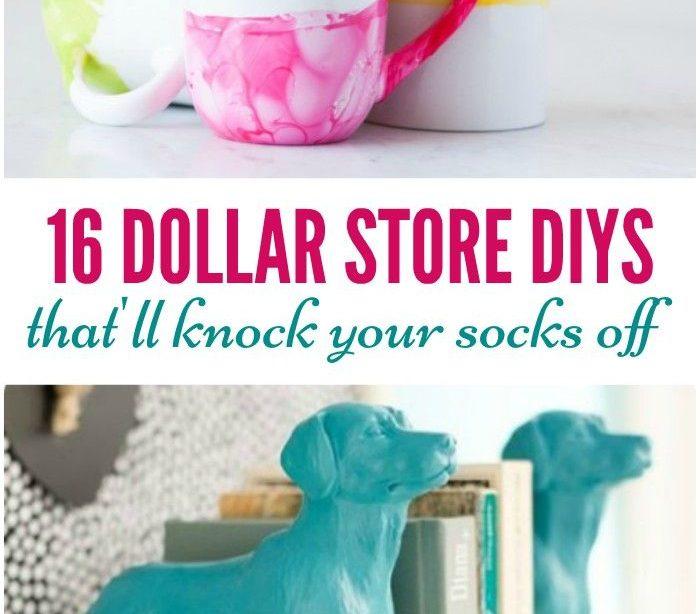 16 Dollar Store DIYs, die Ihre Socken umhauen