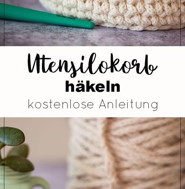 Korb häkeln - DIY Anleitung für Anfänger   DIY Blog   Heimwerker Anleitungen zum Selbermachen  