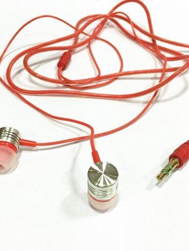Kopfhörer universelles 3,5-mm-In-Ear-Stereo-Ohrhörer-Handy - Orange