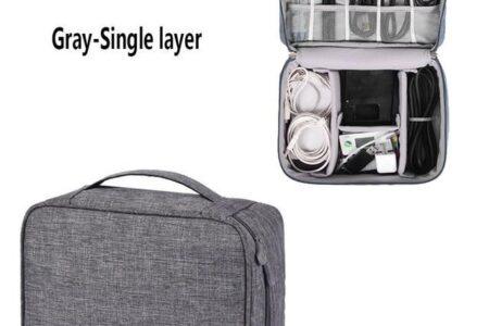 TUUTH Travel Digitalkabel Aufbewahrungstasche Mobile Power Organizer Tasche Elektronikzubehör Tasche Tasche für Kopfhörer - Grau / USA